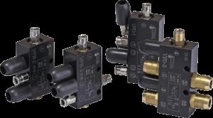 Pneumactic commanded valves